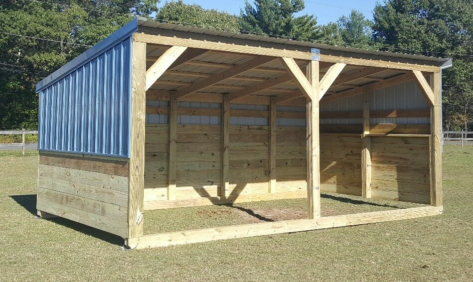 Portable Horse Lean To : Heavy duty portable horse barn livestock shelter goat shed
