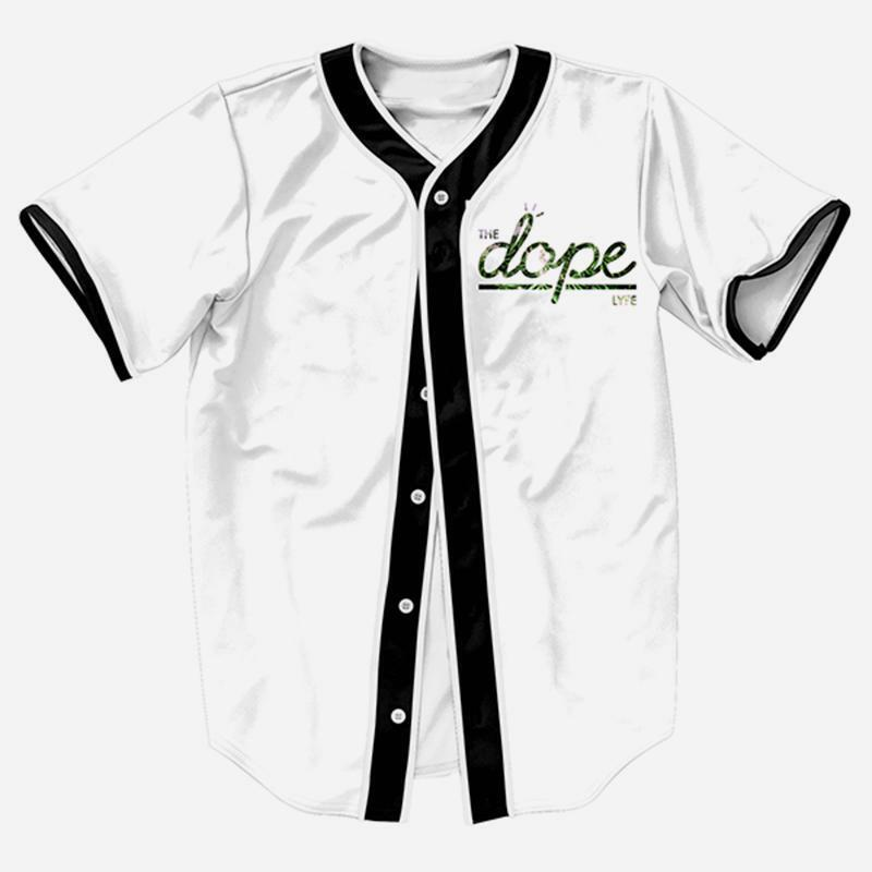 9dd1f280f Details about men green leaf life button down baseball jersey art hiphop  shirts tee white jpg