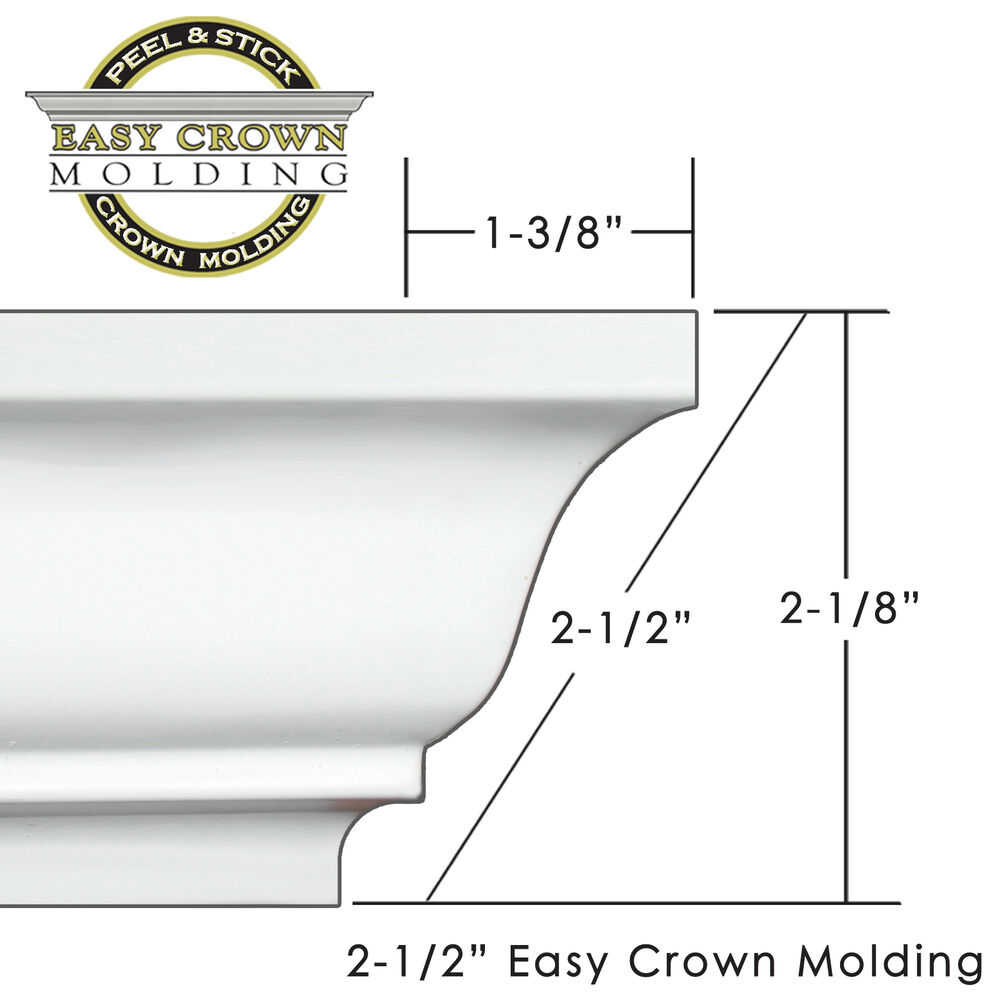 peel stick easy crown molding small room kit includes 4 outside corners ebay. Black Bedroom Furniture Sets. Home Design Ideas
