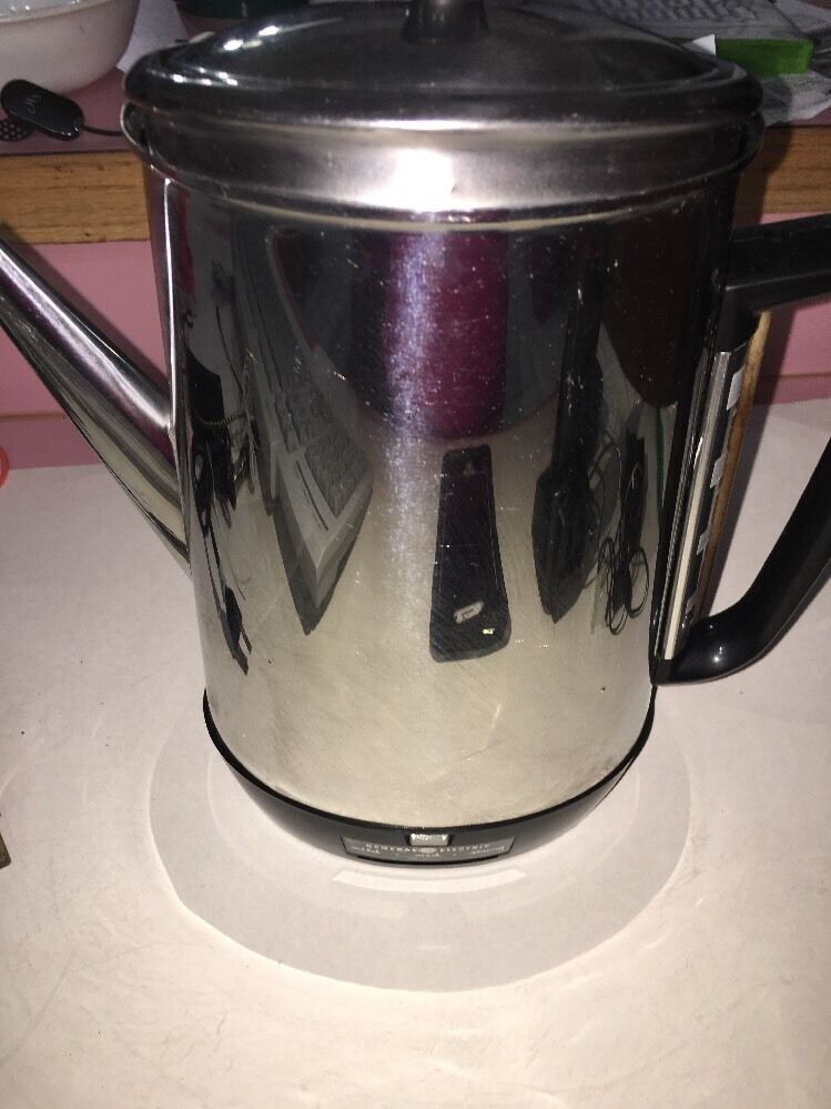 General Electric Coffee Maker 5 Cup : VERY Vintage GE General Electric 10 Cup Coffee Maker / Pot. NICE!!! eBay