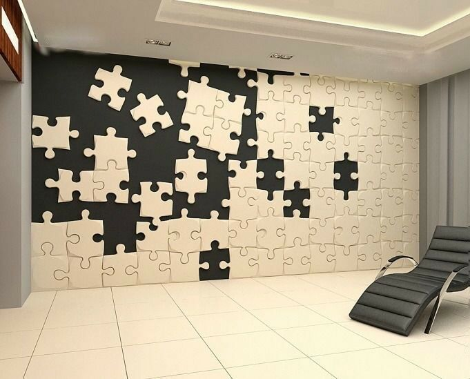 Puzzle 3d Decorative Wall Panels 1 Pcs Abs Plastic Mold