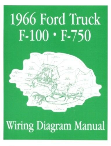 ford 1966 f100 f750 truck wiring diagram manual 66 ebay. Black Bedroom Furniture Sets. Home Design Ideas