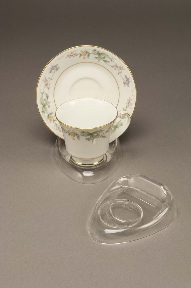 12 New Clear Tea Cup Amp Saucer Stands Holder Espresso