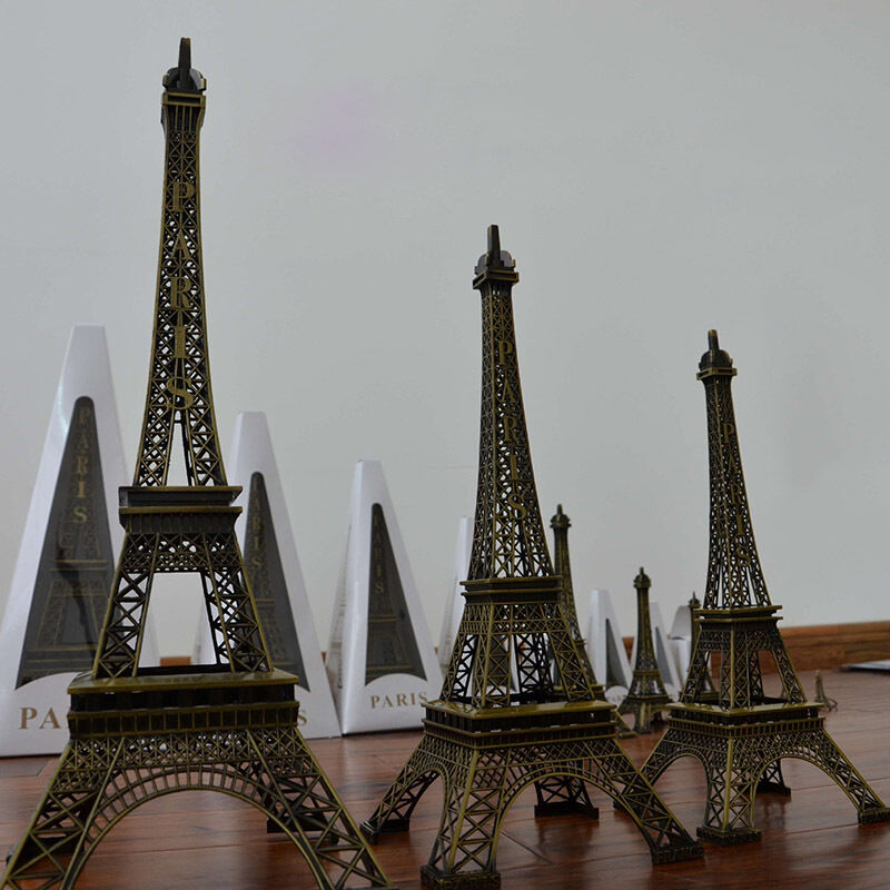 paris home decor items vintage bronze eiffel tower figurine statue model 11689