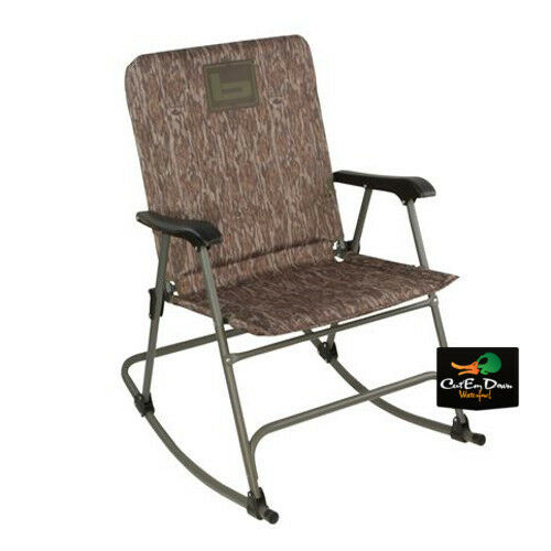 New Banded Folding Rocking Blind Chair Padded Seat Hunting