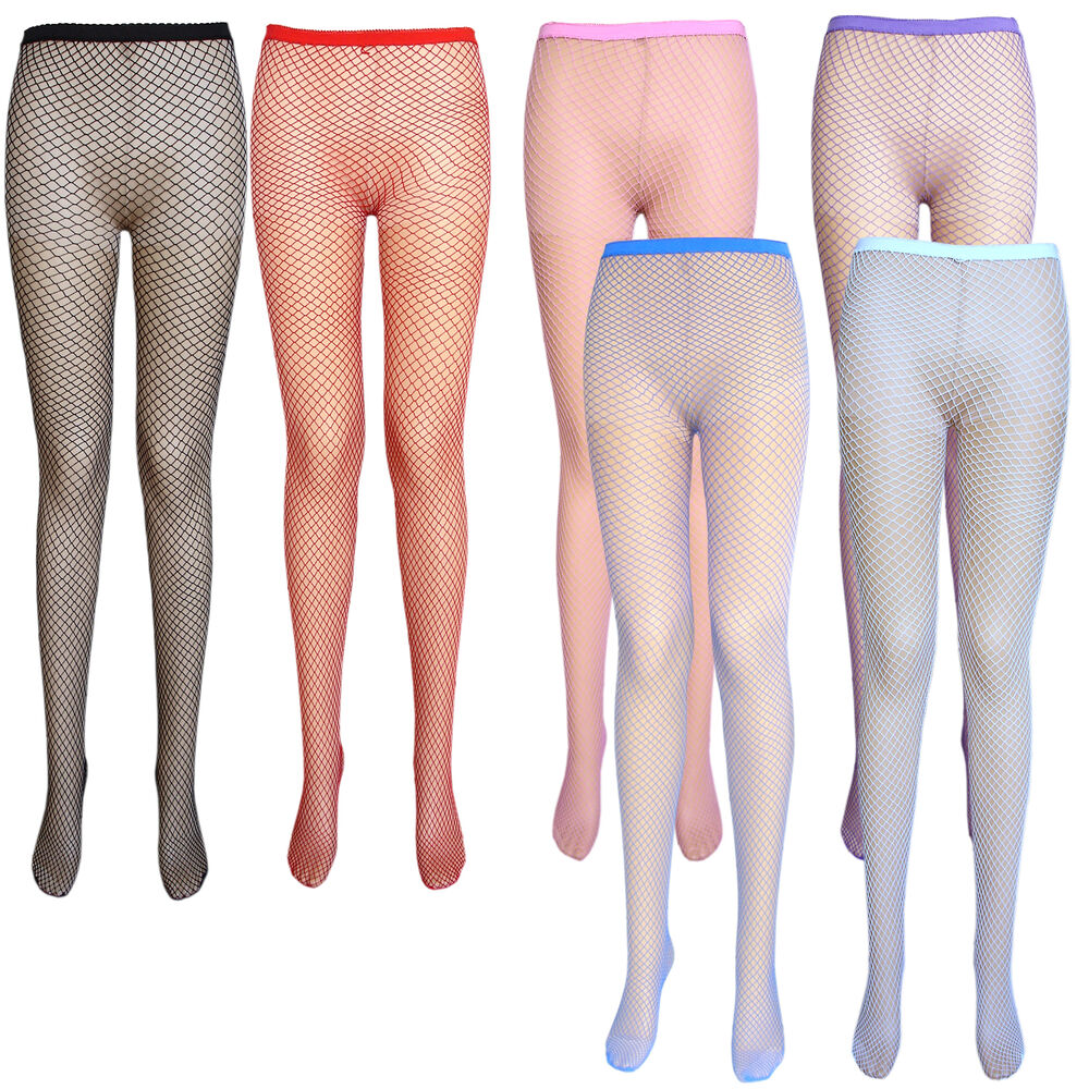 1223ee6e5 Details about fishnet tights black white red metallic blue hot pink purple  yellow burgundy
