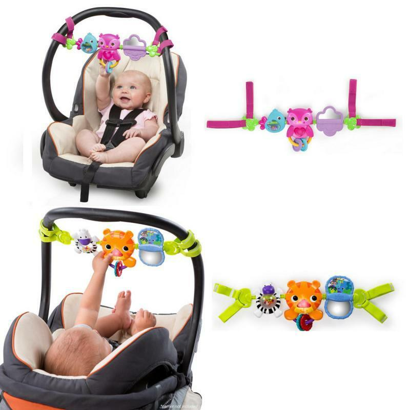 bright starts baby car seat toy bar music rattle sounds play take along ebay. Black Bedroom Furniture Sets. Home Design Ideas