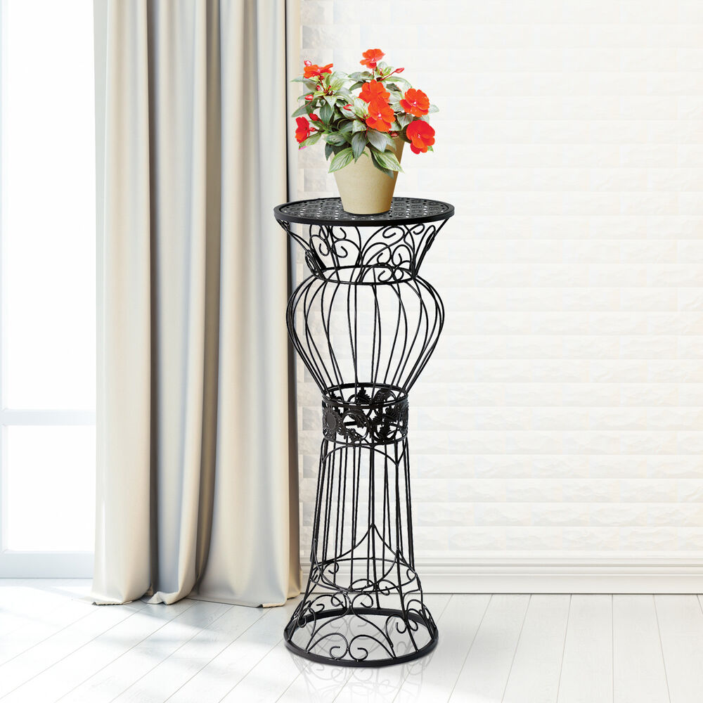 30 flower plant stand metal pot holder rack display decor for Decorative garden accessories