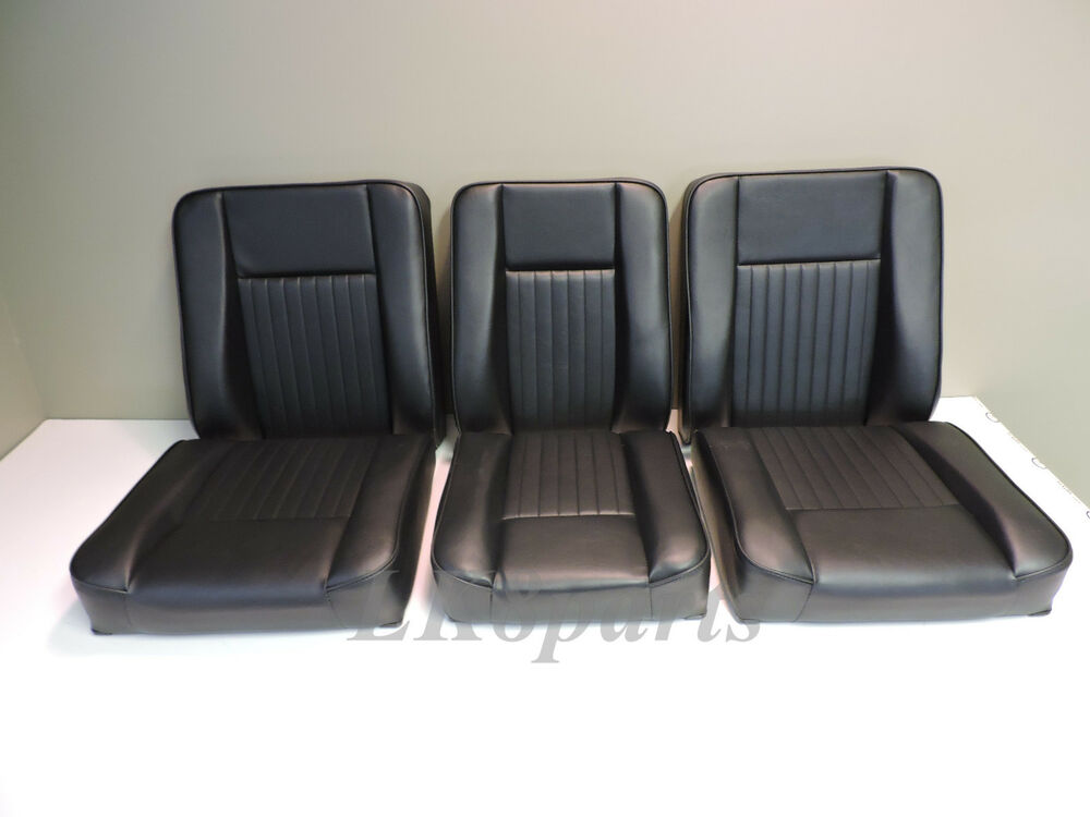 land rover series 2 3 s111 set of deluxe seats 6 pieces ebay. Black Bedroom Furniture Sets. Home Design Ideas