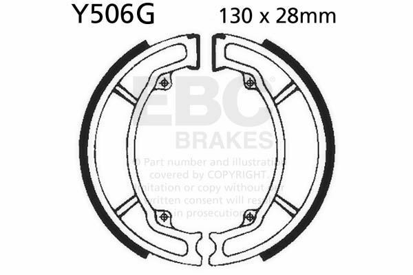 Fit Yamaha Dt 175 All Models 7483 Ebc Front Grooved Brake Shoes