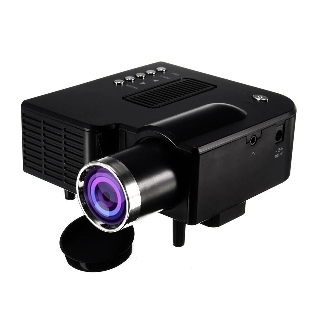 Mini 1080p Full Hd Led Projector Home Theater Cinema 3d: Portable 1080P Full HD Mini Projector Home Theater Cinema