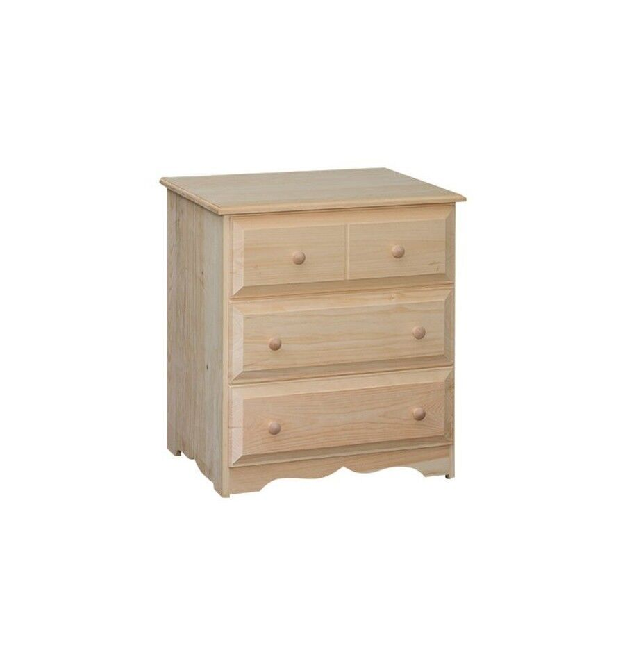 Rustic Pine UNFINISHED COUNTRY 3 Drawer Primitive