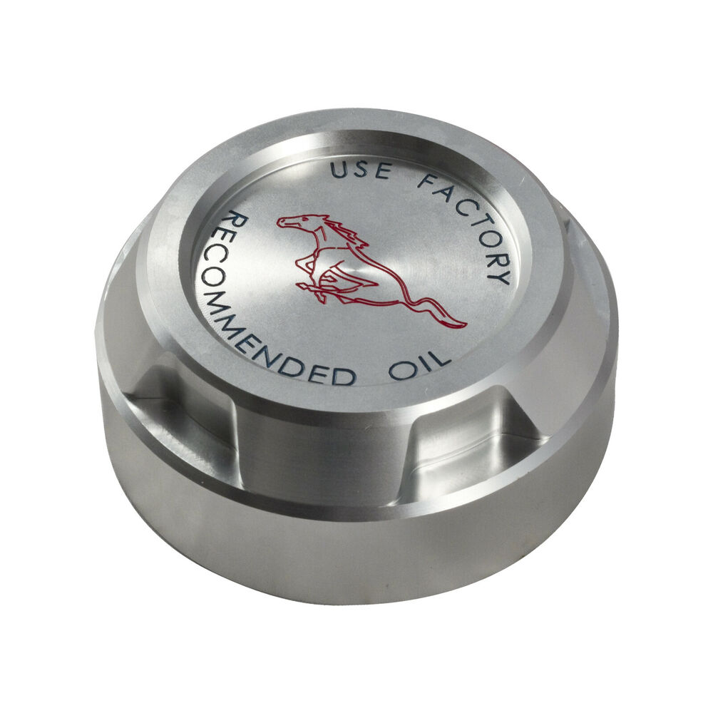ford mustang  ecoboost billet engine oil cap cover  running horse ebay