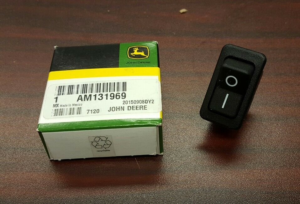 john deere oem auxiliary power port rocker switch am131969