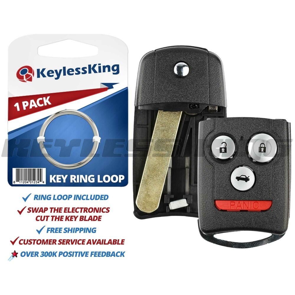 New Replacement Keyless Entry Remote Flip Car Key Fob