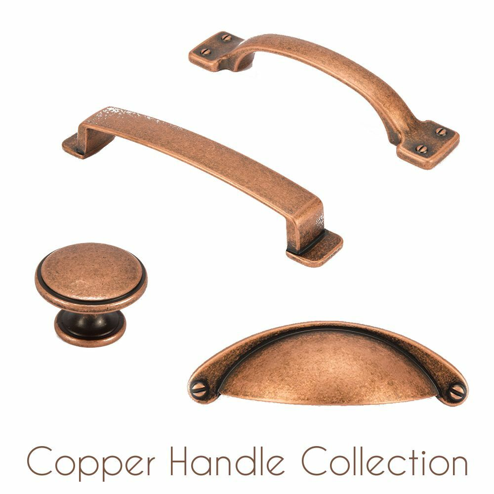FittingsCo Copper Kitchen & Bedroom Cabinet Cup Pull