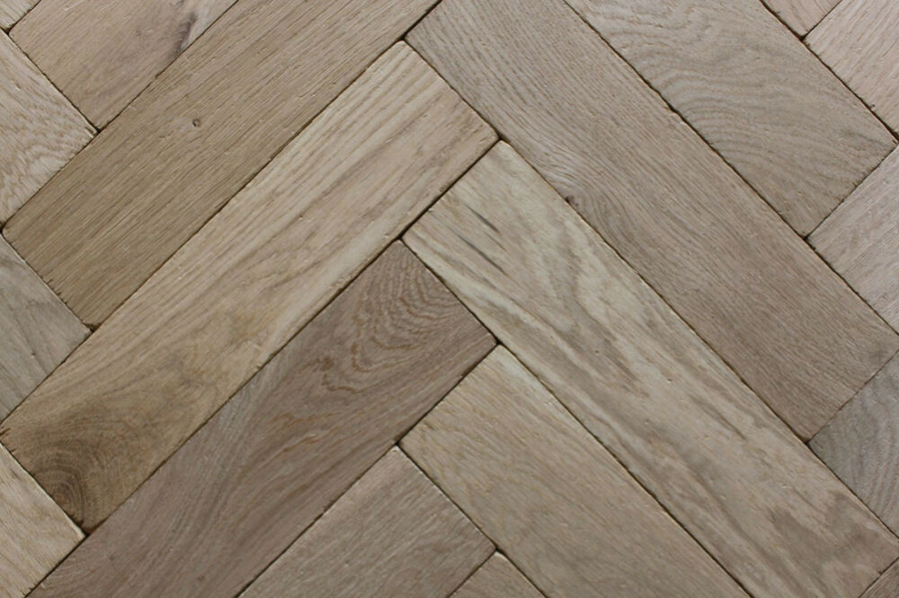 P116 Tumbled Rustic Oak Parquet Flooring Blocks Unfinish