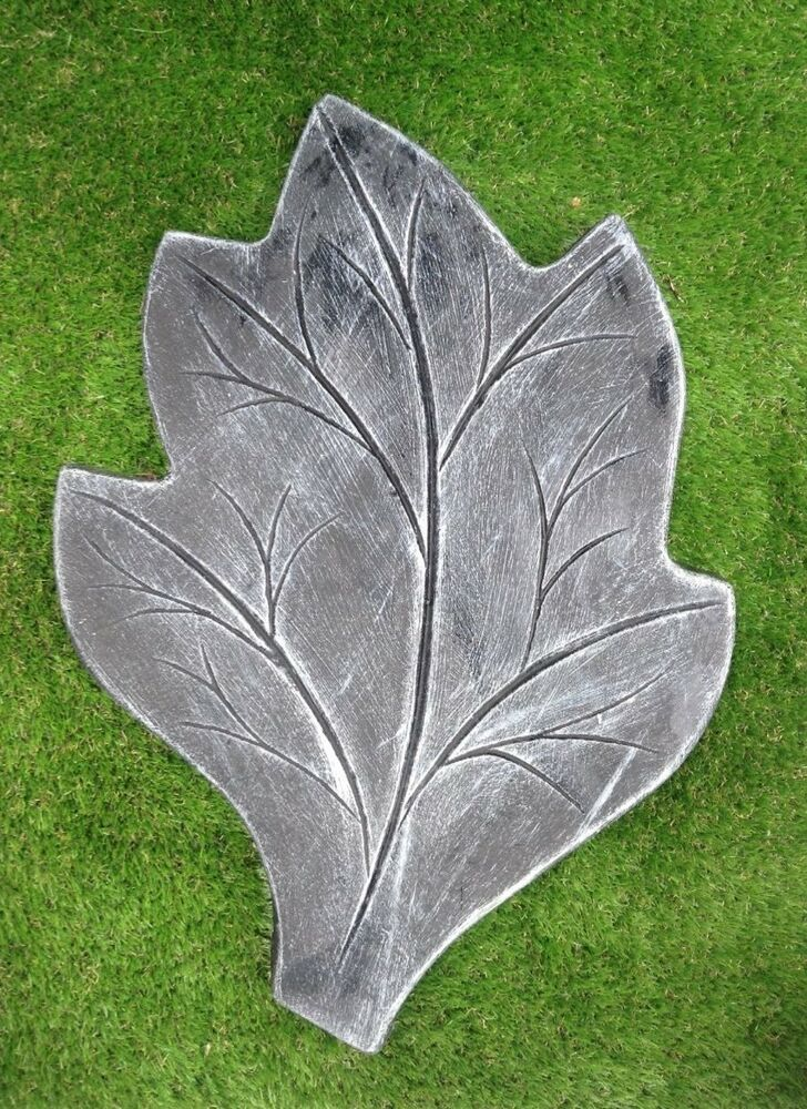Large Leaf Stepping Stone Latex Rubber Mould Only Garden Or Home Ornament Ebay