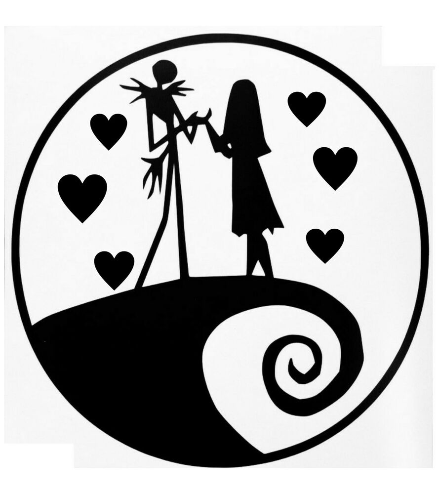 Nightmare Before Christmas Car Decal Jack And Sally Love