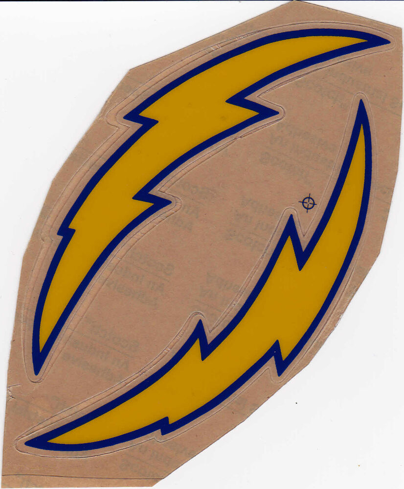 San Diego Chargers Car Decals: SAN DIEGO CHARGERS 70'S THROWBACK MINI HELMET DECAL SET