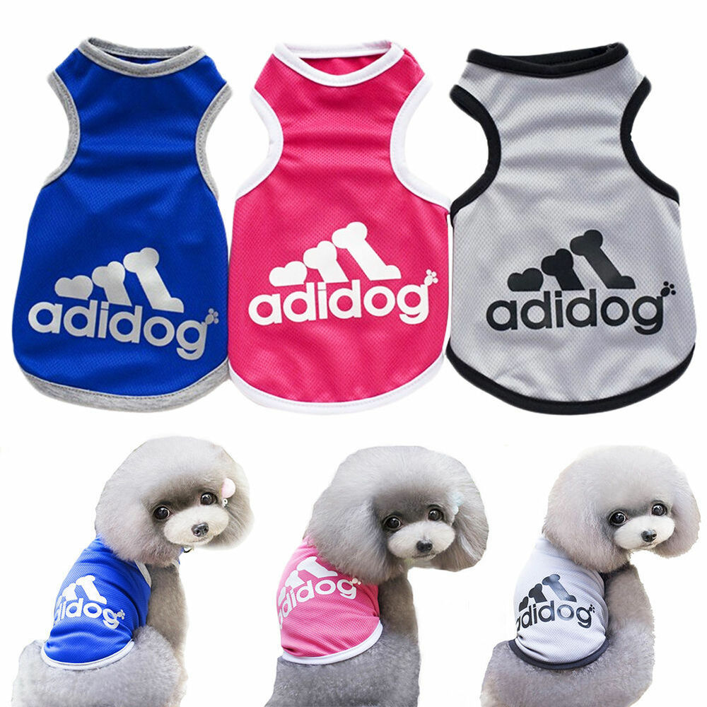2017 adidog fashion summer relax vest cat dog clothes for Dog t shirt for after surgery