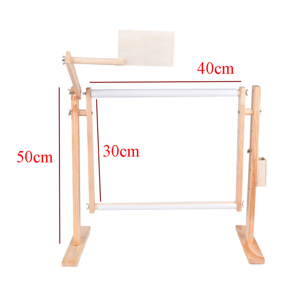 Needlework stand lap table wood embroidery hoop frame