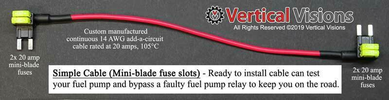 tipm fuel pump relay simple bypass cable