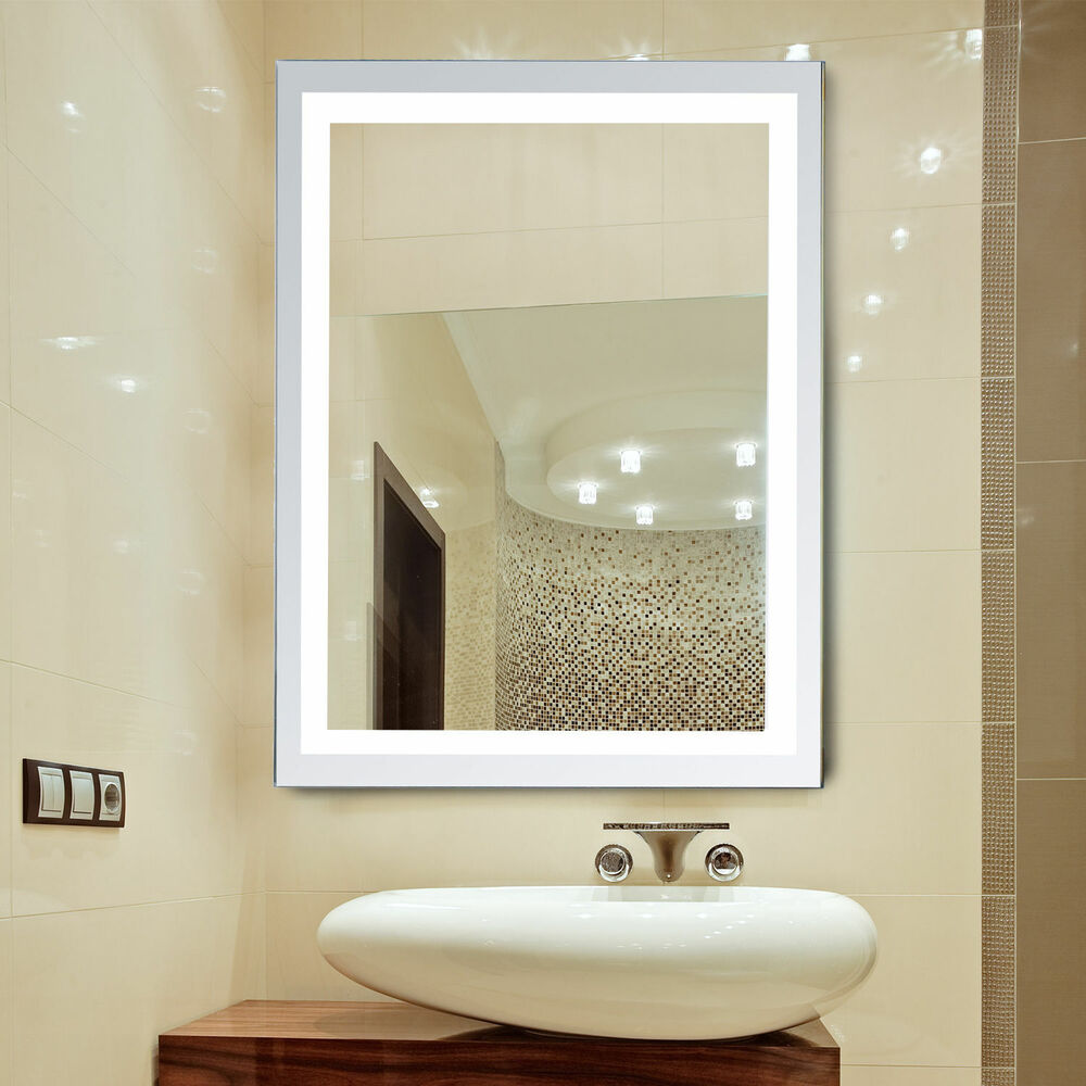 Illuminated Mirrors Bathroom: LED Illuminated Backlit Wall Mount Bathroom Vanity Mirror