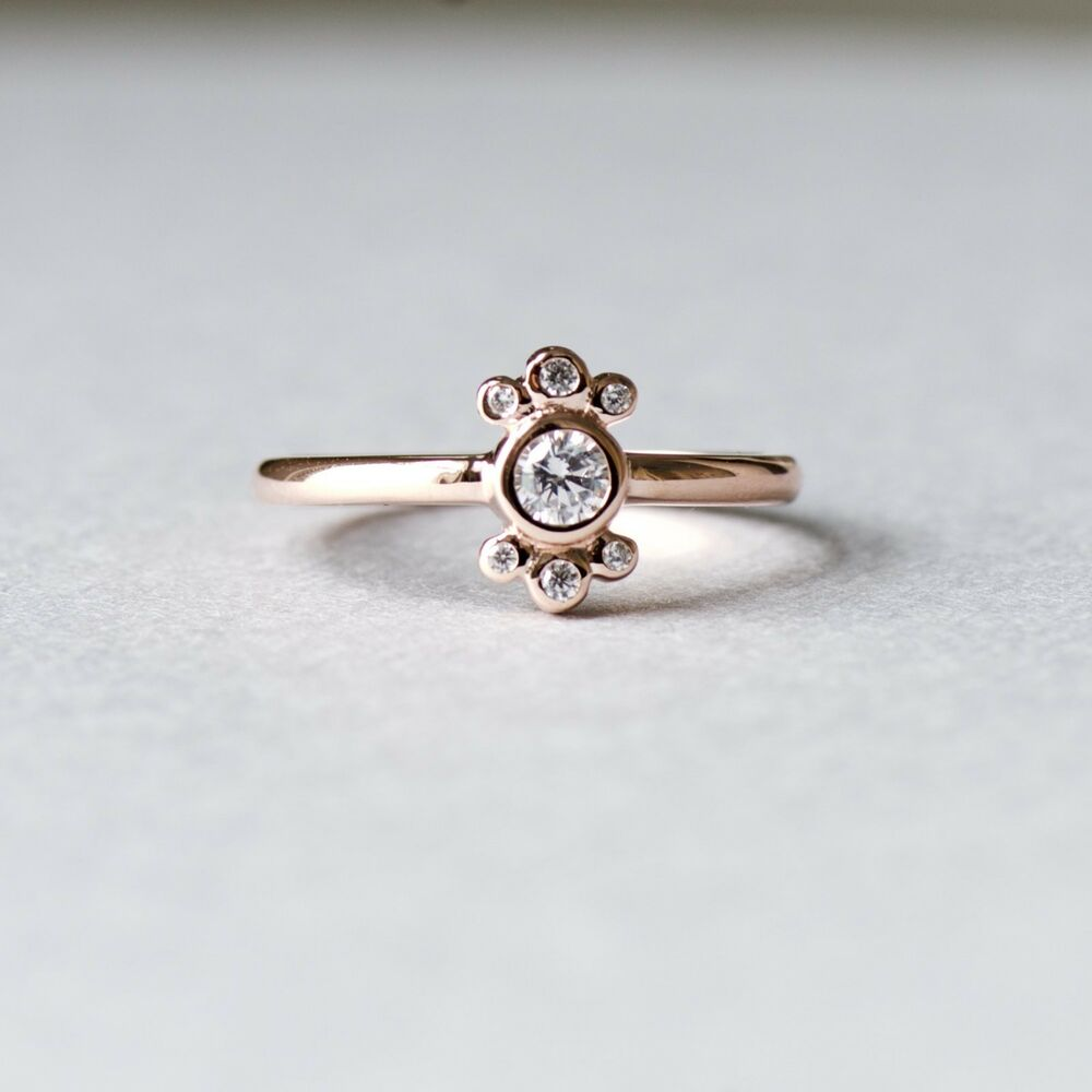 14k gold plated sterling silver dainty ballerina ring