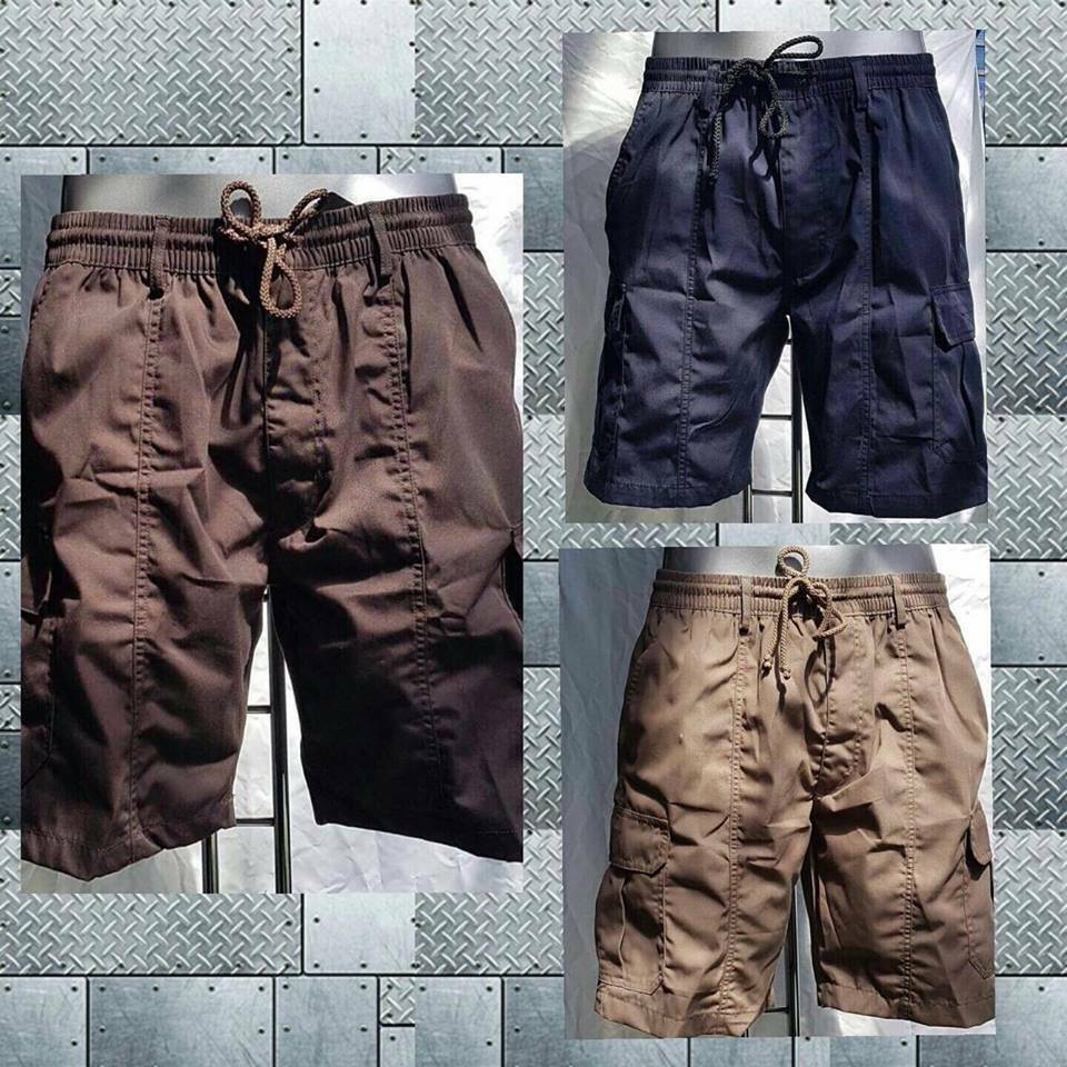 3d6f90a559 Details about NEW BOYS MENS ELASTICATED SHORTS POLY COTTON CARGO COMBAT  SUMMER TREKKING HIKING
