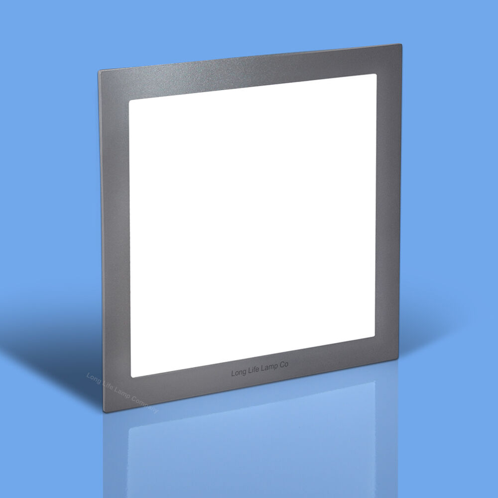 24W LED Recessed Ceiling Panel SQUARE SILVER BODY Flat
