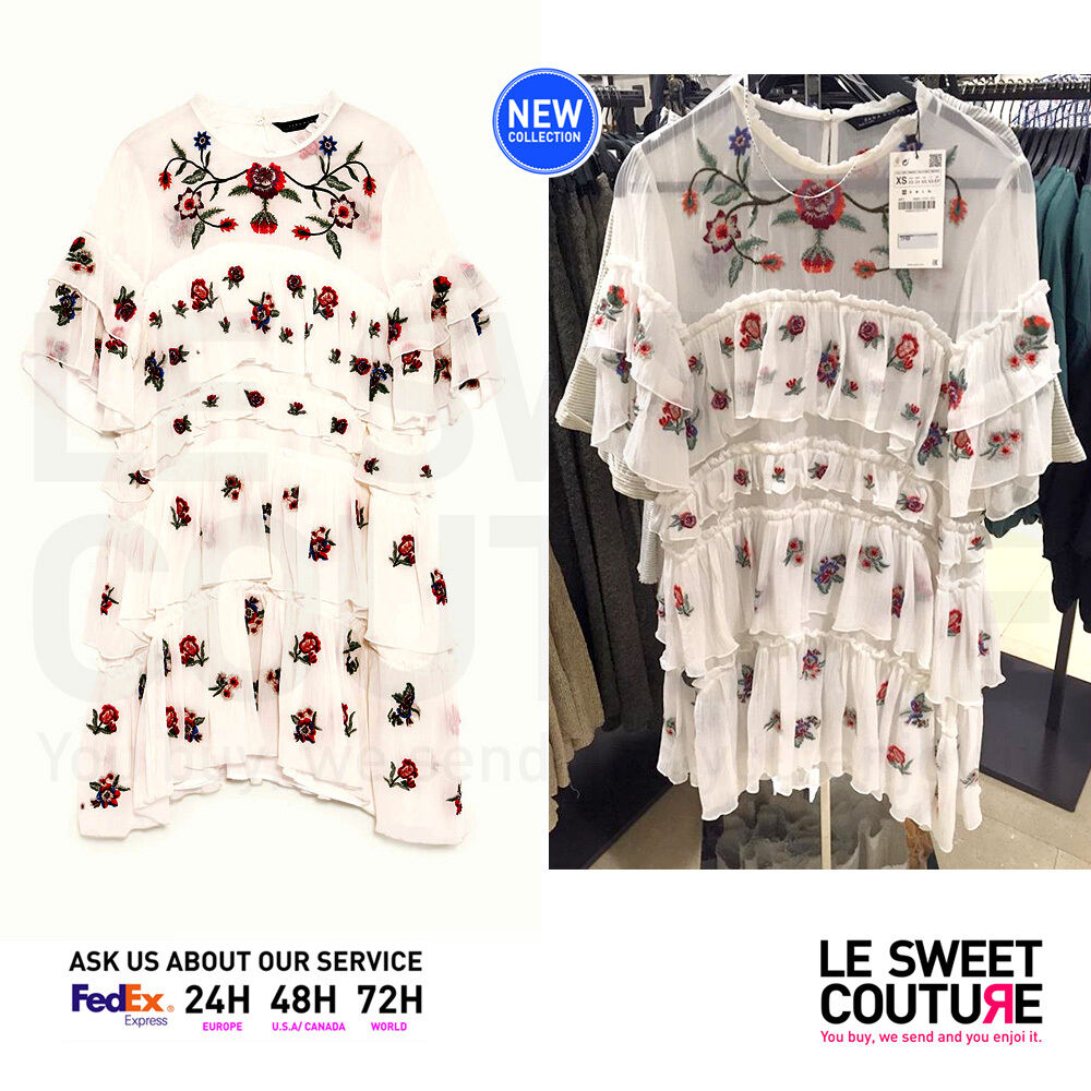 81f1744132 Details about ZARA WOMEN SS17 NEW COLLECTION EMBROIDERED MINI DRESS  6895/070/251