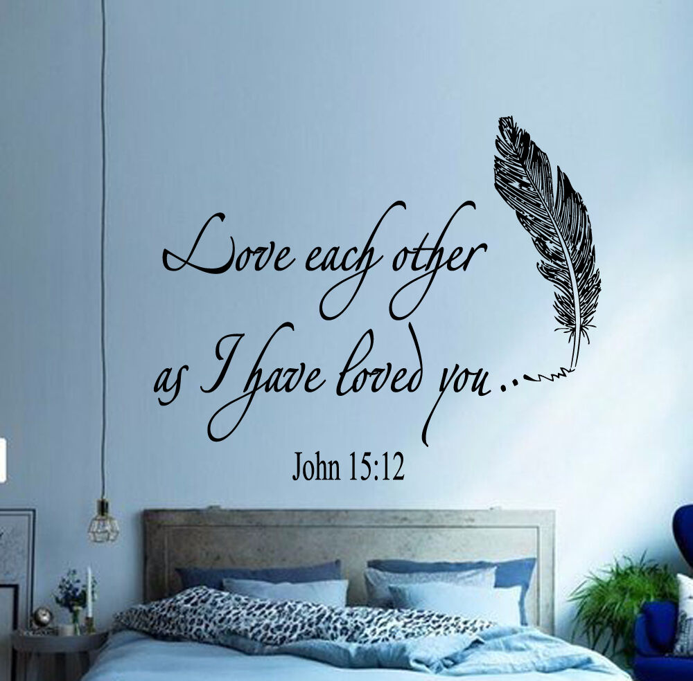 Love Each Other Bible: Family Wall Decal Quote Love Each Other Bible Verses