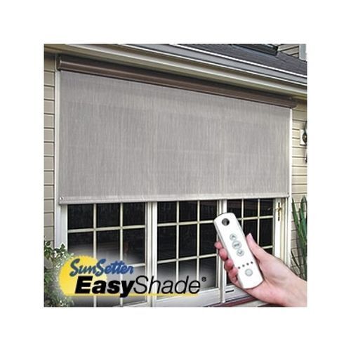 8 39 Sunsetter Motorized Easyshade Solar Screen Outdoor Solar Shades By Sunsetter Ebay