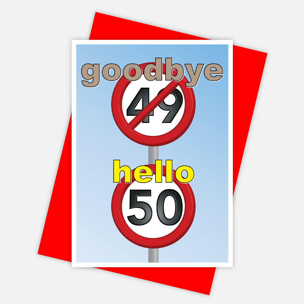 Details About Funny 50th Happy Birthday Card For Him Her 50 Wishes Bday