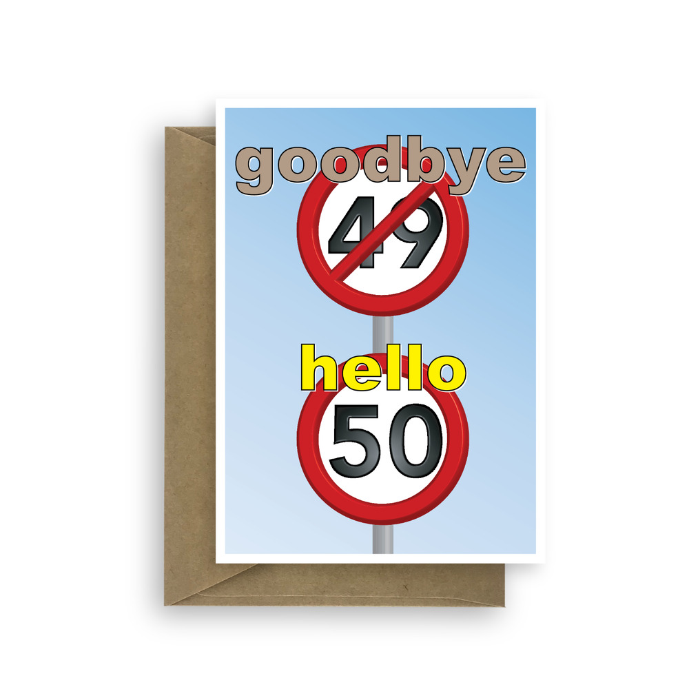 Funny 50th Happy Birthday Card For Him Her 50 Wishes Bday
