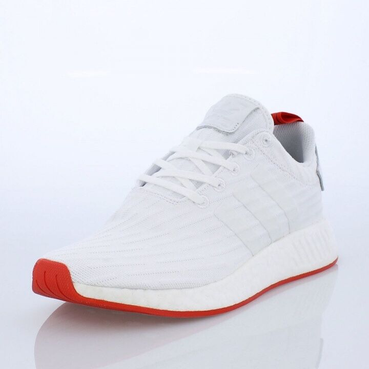 77869bb18 Details about Adidas NMD R2 PK White Core Red. BA7253. primeknit