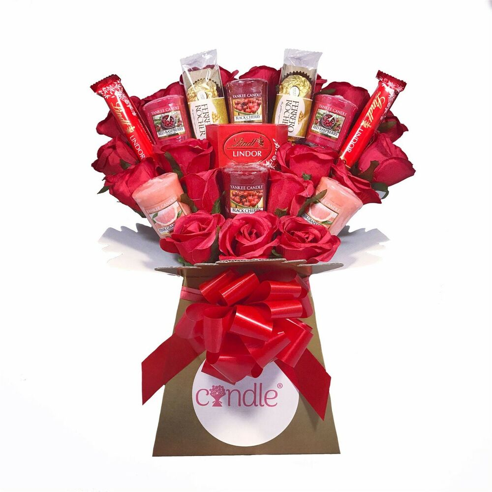Uks only official the yankee candle and red rose bouquet ebay izmirmasajfo