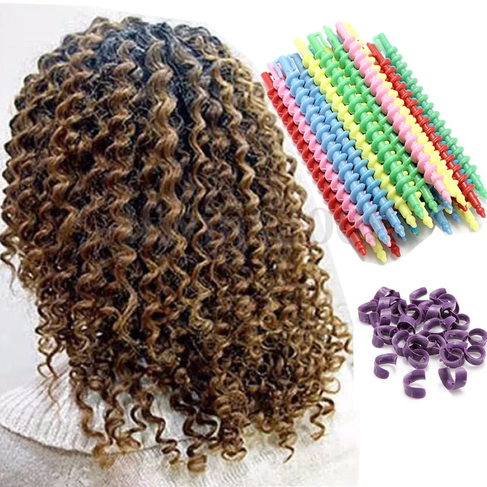 25pcs magic rouleaux bigoudi cheveux spirale coiffure curler friser twist roller ebay. Black Bedroom Furniture Sets. Home Design Ideas