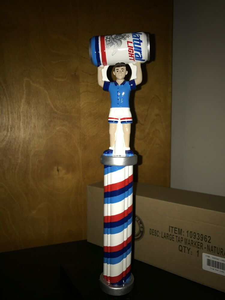 Rare New Beer Tap Handle Natural Light Marker Keg Can
