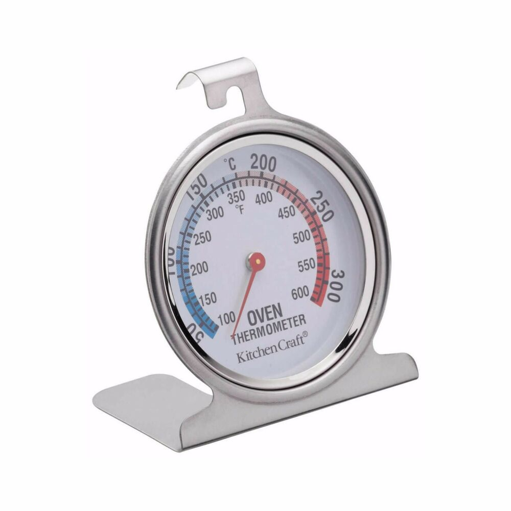 KITCHENCRAFT Stainless Steel Oven Thermometer. Baking/Roasting/Cake ...