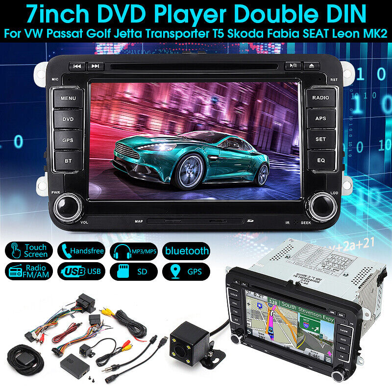 7 39 39 touchscreen dvd player radio gps sat stereo camera for vw passat golf jetta ebay. Black Bedroom Furniture Sets. Home Design Ideas