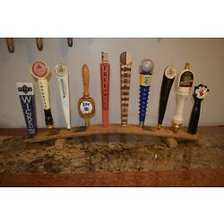 Kyпить oak whiskey barrel stave 10 beer tap handle display stand handles not included на еВаy.соm