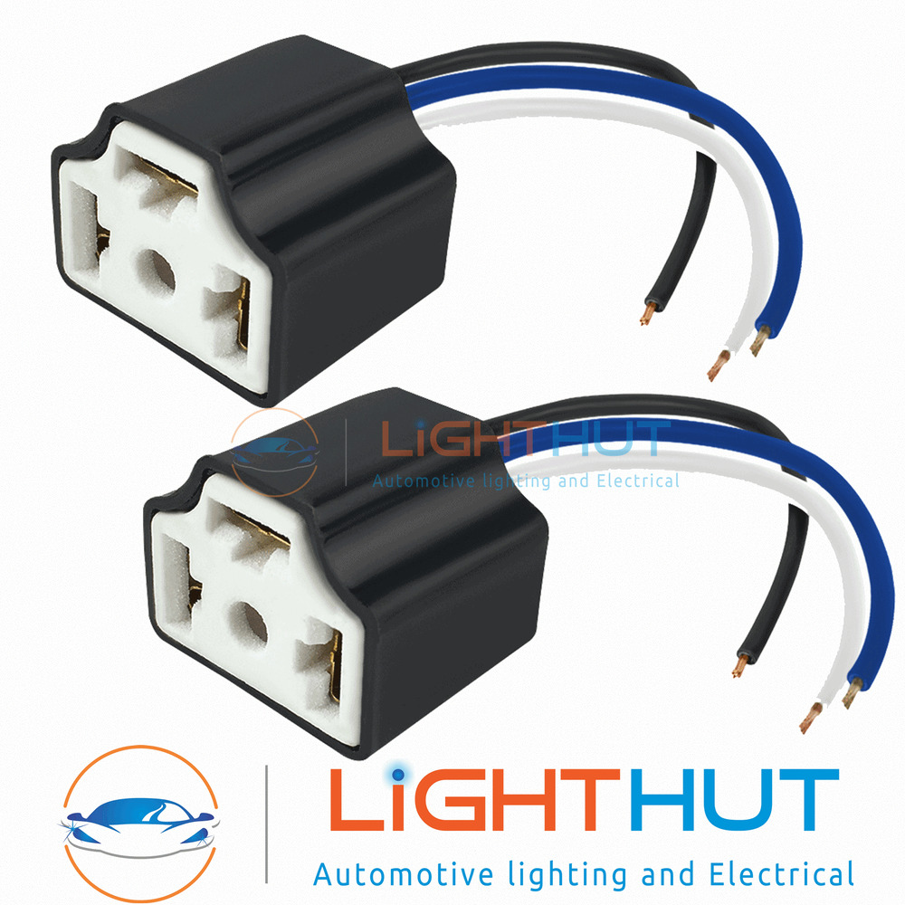 2 X H4 Ceramic Bulb Holder Plug Headlamp Headlight Connector Fit Wire Wiring Repair Block Ebay Nissan Micra