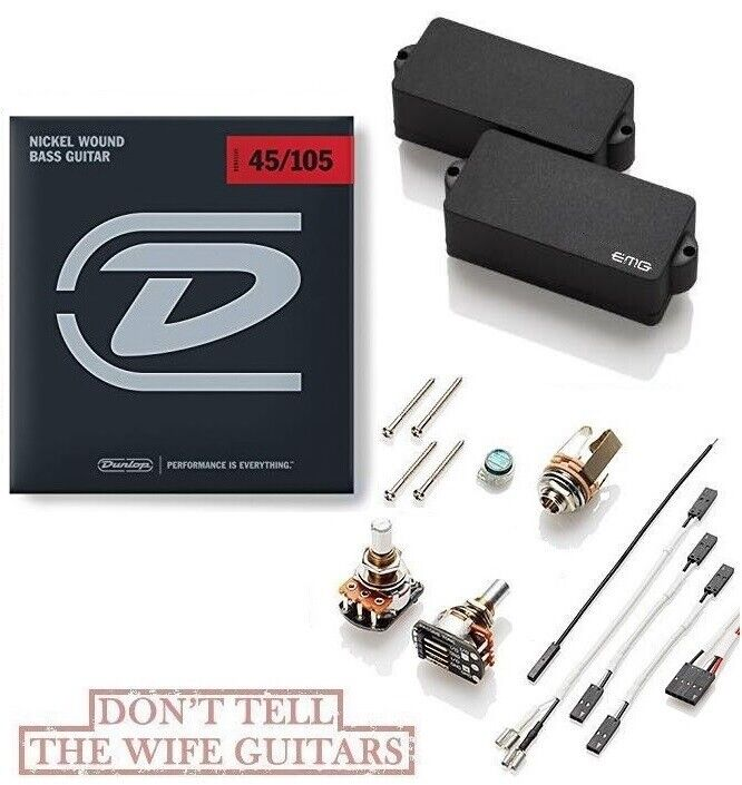Emg P Hz Black P Bass Passive Precision Pickup Pots