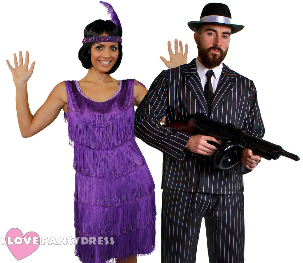 COUPLES GANGSTER AND FLAPPER COSTUMES 1920\'S FANCY DRESS THE GREAT ...