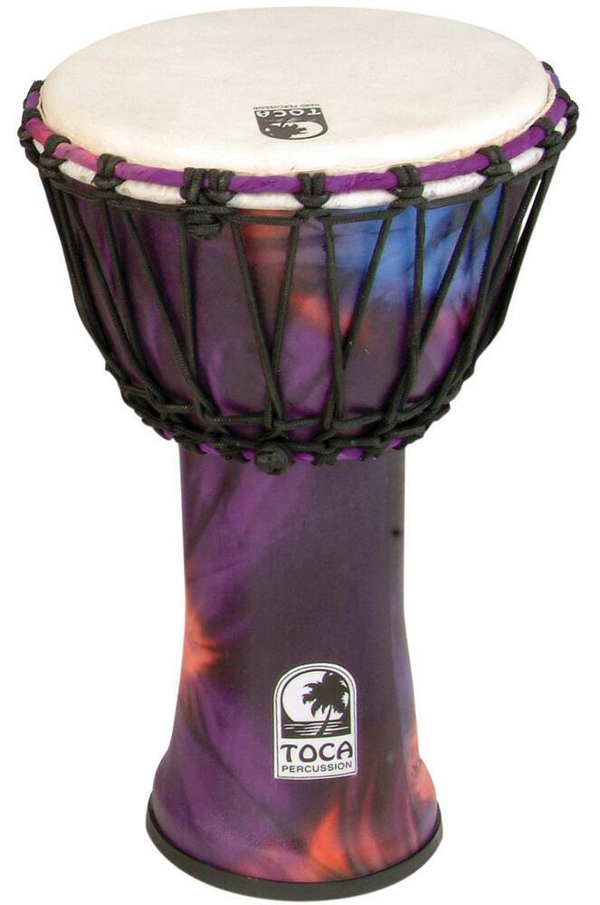 Toca Freestyle Rope Tuned Djembe 12 U0026quot  Woodstock Purple