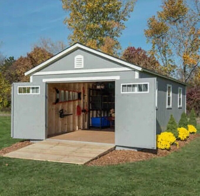 Braxton 12 X 24 Garage Shed 2391 Cuft W 3 Windows New