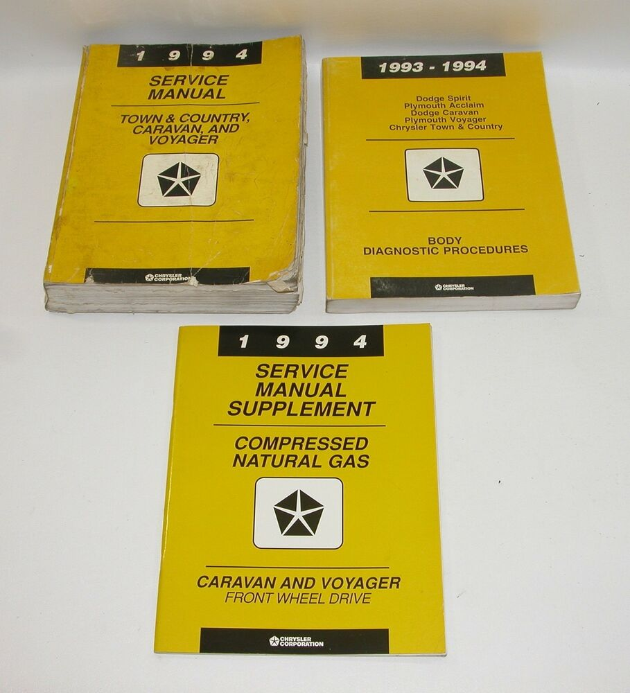 1994 Chrysler Town And Country Dodge Caravan Plymouth Voyager Service  Manuals | eBay