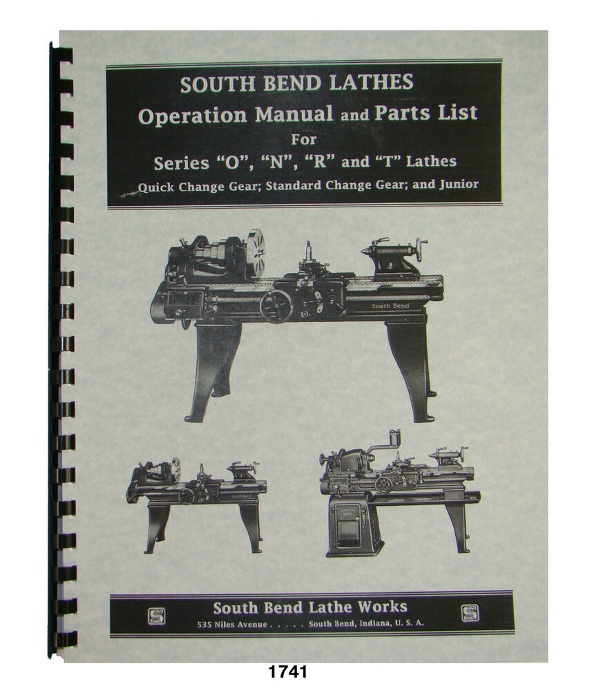 South Bend Lathe Parts Wiring Diagram Series O Junior Operation List Manual Ebay 857x1000